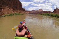 Canoeing on the Colorado river